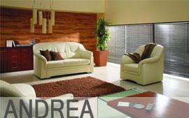 Meble ETAP SOFA wypoczynkowe Sofa 3, sofa 2, fotel ANDREA