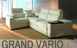 Meble ETAP SOFA wypoczynkowe narożnik, sofa 3, sofa 2, fotel, fotel relax GRAND VARIO