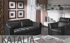 Meble HELVETIA FURNITURE wypoczynkowe narożnik, sofa 2.5F, fotel, hocker Katalia