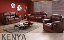 Meble HELVETIA FURNITURE wypoczynkowe narożnik, sofa 3F, sofa 2.5F, sofa 2, fotel RF, hocker Kenya
