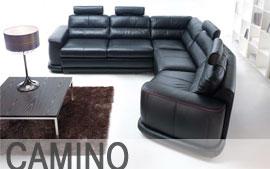 Meble GALA wypoczynkowe narożnik, sofa 3F, sofa 2F, fotel, stolik Camino
