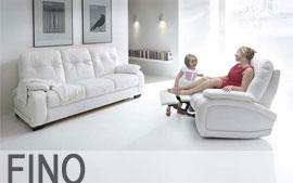 Meble GALA wypoczynkowe sofa 3F, sofa 2, fotel, fotel TV, fotel TV bujany Fino