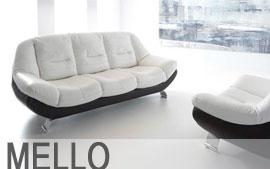 Meble GALA wypoczynkowe sofa 3F, sofa 2, fotel Mello