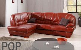 Meble GALA wypoczynkowe narożnik, sofa 3F, fotel Pop
