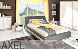 Meble Bog-Fran sypialnia łoże, lustro, komoda, szafki nocne, szafa SYSTEM AXEL
