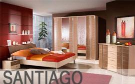 Meble HELVETIA WIERUSZÓW  szafa, łoże, stolik nocny, komoda, lustro Santiago