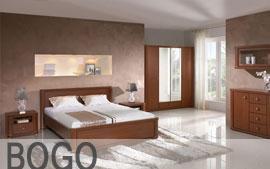 Meble Bog-Fran sypialnia łoże, lustro, komoda, szafki nocne, szafa SYSTEM BOGO