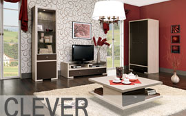 Meble Bog-Fran salon biurko, szafa, komoda, regał, szafka, półka SYSTEM CLEVER