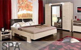 Meble Bog-Fran sypialnia łoże, lustro, komoda, szafki nocne, szafa SYSTEM SPA