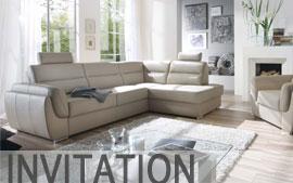 Meble HELVETIA FURNITURE wypoczynkowe narożnik, fotel INVITATION