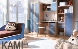 Meble Bog-Fran młodzieżowe biurko, szafa, komoda, regał, szafka, półka SYSTEM KAMI