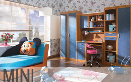 Meble Bog-Fran młodzieżowe biurko, szafa, komoda, regał, szafka, półka SYSTEM MINI