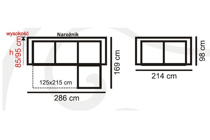 narożnik reggio aek design najlepsze ceny w polsce
