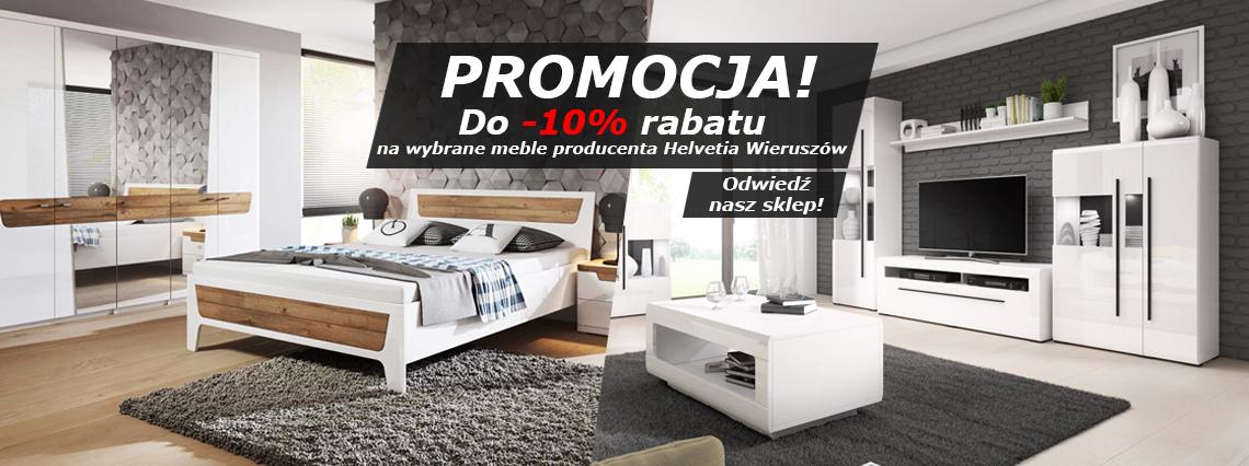 Promocja -10% na wybrane meble Helvetia Wieruszów